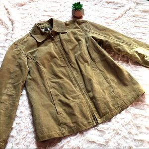 Chico's Light Brown Leather Moto Jacket